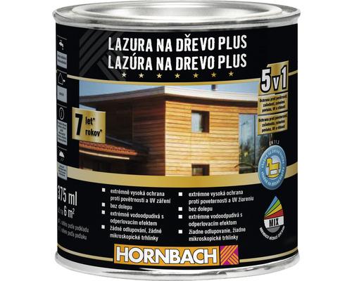 Lazúra na drevo Plus Hornbach, teak 375 ml