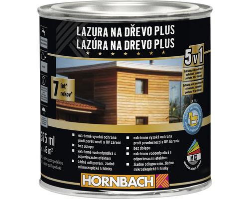 Lazúra na drevo Plus 375 ml biela