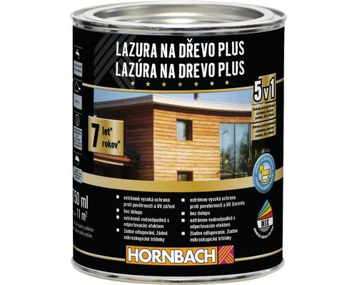 Lazúra na drevo Plus Hornbach, strieborno sivá 750 ml