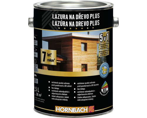 Lazúra na drevo Plus 2,5 L biela