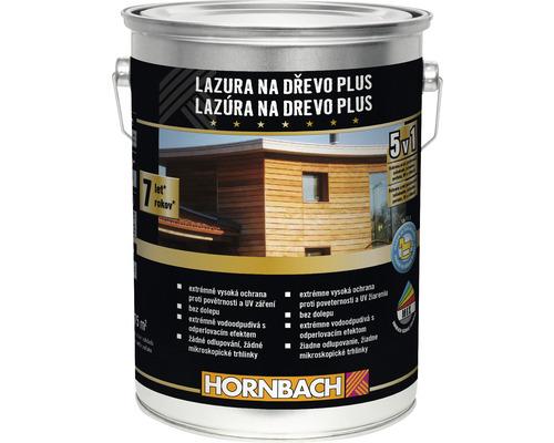 Lazúra na drevo Plus Hornbach, orech 5 l