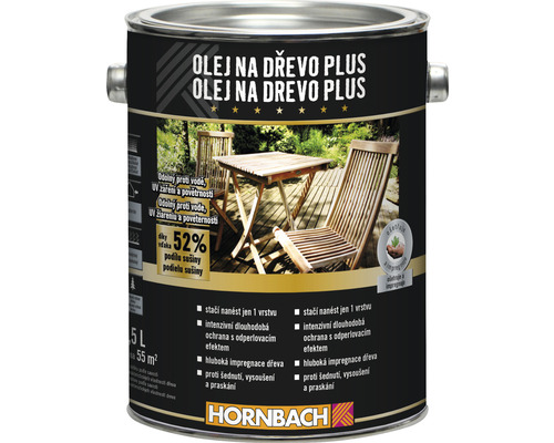 Olej na drevo plus Hornbach Bangkirai 2,5 l