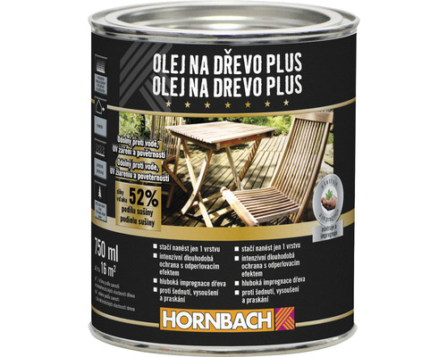 Olej na drevo plus Hornbach teak 0,75 l