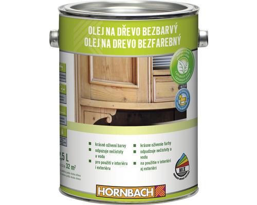 Olej na drevo Hornbach bezfarebný 2,5 l