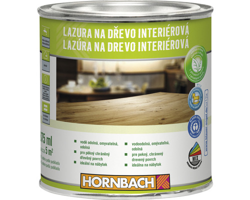 Lazúra na drevo interiérová Hornbach, mahagón 375 ml