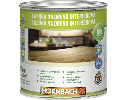 Lazúra na drevo interiérová Hornbach, orech 375 ml