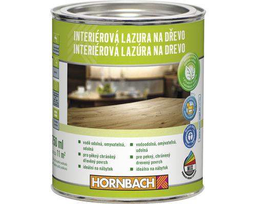 Lazúra na drevo interiérová Hornbach, biela 750 ml