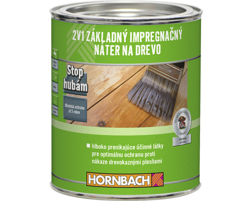 Impregnácia dreva Hornbach exteriér 0,75 l