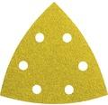 Brúsny papier pre delta brúsky Bosch 93x93x93 mm G40, 6 dier