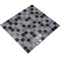 Sklenená mozaika CM 4999 mix čierna 30,5x32,5 cm