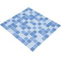 Sklenená mozaika CM 4222 svetlo modrá 30,5x32,5 cm