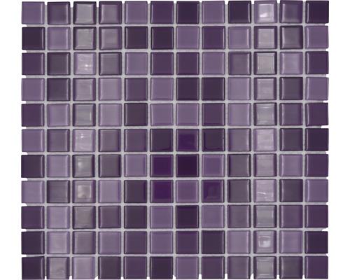 Sklenená mozaika CM 4888 mix fialová 30,5x32,5 cm
