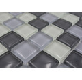 Sklenená mozaika XCM 8125 30,5x32,5 cm šedá/čierna/biela