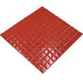 Sklenená mozaika XCM 8060 30,5x32,5 cm červená