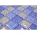 Sklenená mozaika XCM 8222 30,5x32,5 cm modrá