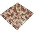 Sklenená mozaika XCM 8290 30,5x32,5 cm béžová/hnedá
