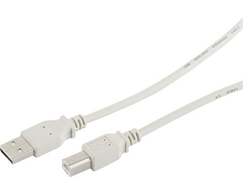 USB kábel A-B 1,8m čierny
