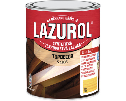 Lazurol TOPDECOR S1035 T60 pínia 0,75L