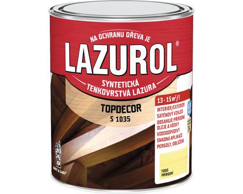 Lazurol TOPDECOR S1035 T00 prírodný 0,75 L