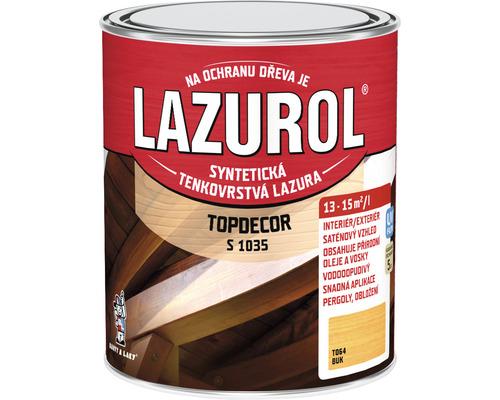 Lazurol TOPDECOR S1035 T64 buk 0,75L