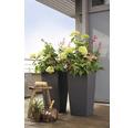 Samozavlažovací kvetináč Lechuza Cubico Color bridlica 40x40x75 cm