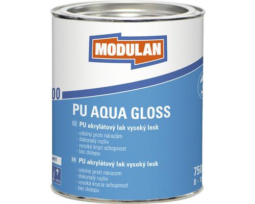 PU akrylátový lak vysoký lesk Modulan PU Aqua Gloss RAL9010 Biela 750 ml
