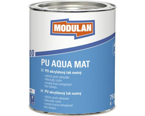 PU akrylátový lak matný Modulan PU Aqua Mat RAL9010 Biela 750 ml