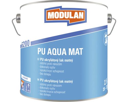 PU akrylátový lak matný Modulan PU Aqua Mat RAL9016 Dopravná biela 2,5 l