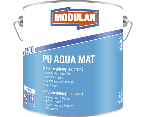 PU akrylátový lak matný Modulan PU Aqua Mat RAL9010 Biela 2,5 l