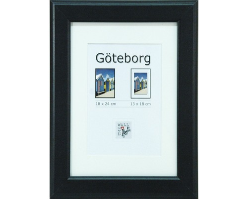 Drevený fotorámik Göteborg čierny 18x24 cm