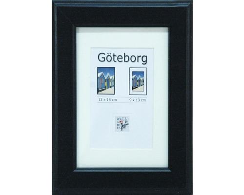 Drevený fotorámik Göteborg čierny 13x18 cm