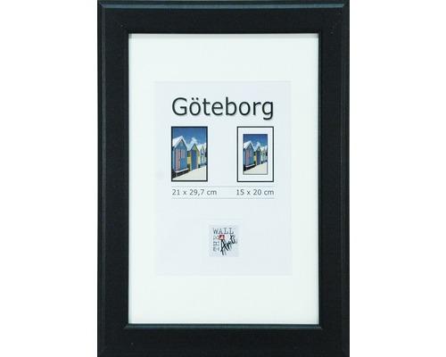 Drevený fotorámik Göteborg čierny 21x29,7 cm (A4)