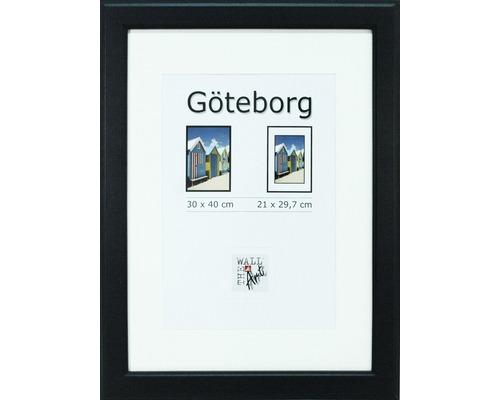 Drevený fotorámik Göteborg čierny 30x40 cm