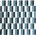 Sklenená mozaika XCM S828 30,5x32,5 cm šedá/biela/čierna