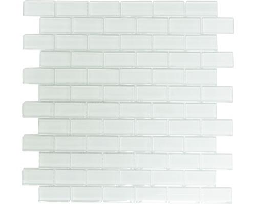 Sklenená mozaika XCM B800 30,5x32,5 cm biela