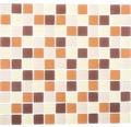 Sklenená mozaika XCM 8560 30,5x32,5 cm hnedá/pastelovo béžová/žltá
