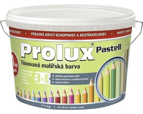 Oteruvzdorná farba na stenu Prolux Pastell svetlozelená 7 kg + 1 kg