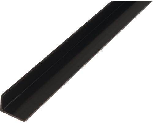 L profil PVC čierny 25x20x2 mm, 2 m