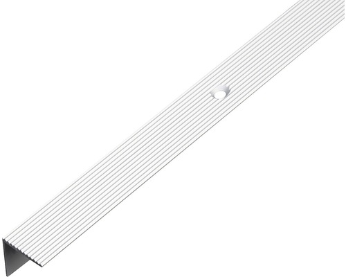 Schodový profil ALU strieborný elox 21x21x1,8 mm, 1 m
