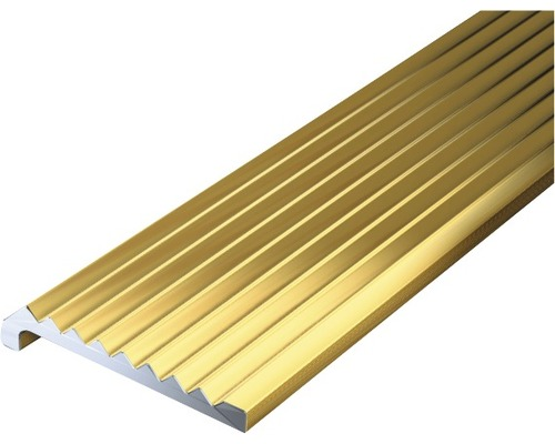 Ukončovací profil ALU zlatý elox 23x6,3x2 mm, 2 m