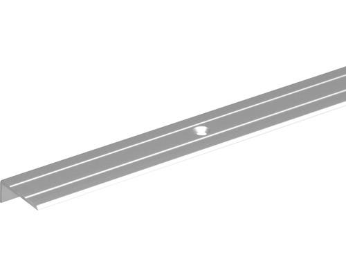 Schodový profil ALU strieborný elox 24,5x20x1,5 mm, 2 m