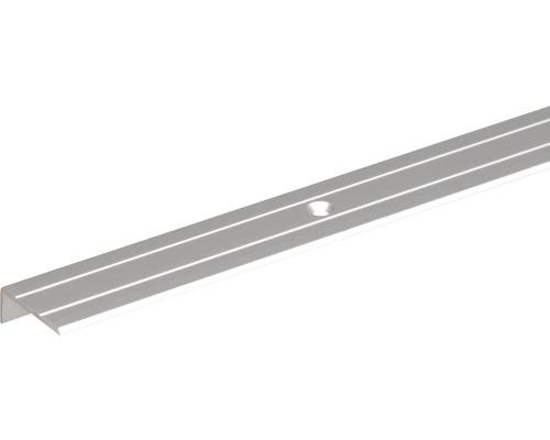 Schodový profil ALU strieborný elox 24,5x10x1,5 mm, 1 m