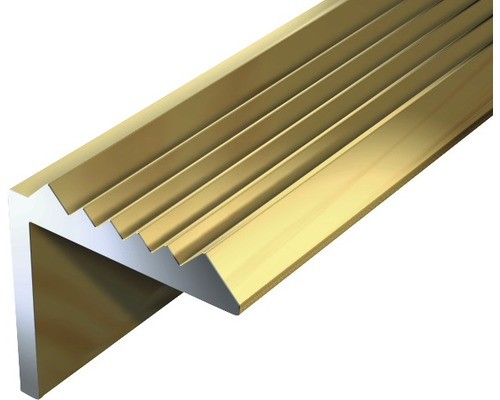 Schodový profil ALU zlatý elox 21x21x1,8 mm, 2 m