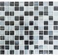 Sklenená mozaika čierno - biela 30,5x32,5 cm hrúbka 8 mm