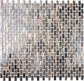 Sklenená mozaika hnedá zlatá 30,5x32,5 cm