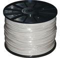 Silový kábel H03 VV-F 4x0,75 mm² biely, metrážový sortiment