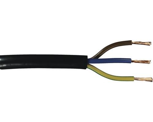 Silový kábel H05 VV-F 3G1 mm² čierny, metrážový sortiment