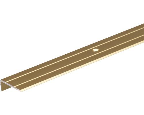 Schodový profil ALU zlatý elox 24,5x10 mm, 1 m
