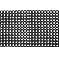 Gumová rohožka Domino voštinová čierna 50x80 cm