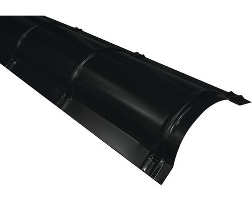 Hrebenáč polguľatý PRECIT 1000 mm 9005 čierna